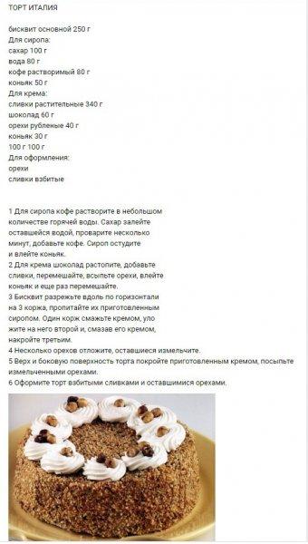 Очень вкусные рецепты тортов!